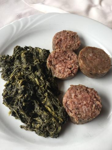 sausage & spinach
