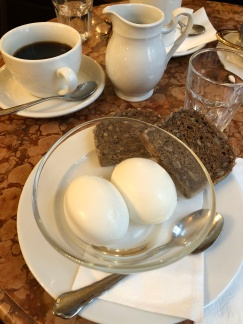Eggs in a glass at Cafe Demel