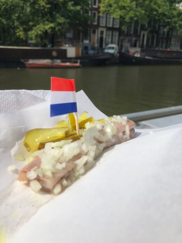 raw herring with onions and pickles
