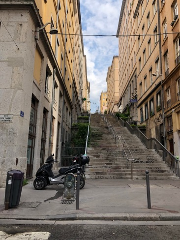 so many stairs in Croix-Rousse