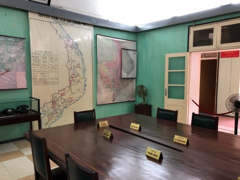 old war rooms at the citadel used during the Vietnam War