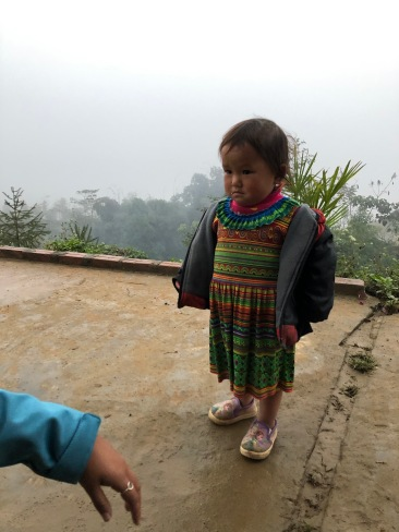 the cutest little girl at our homestay